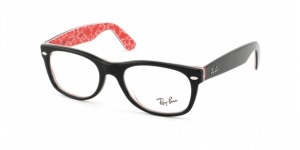New Wayfarer RX5184 2479 TOP BLACK ON TEXTURE R