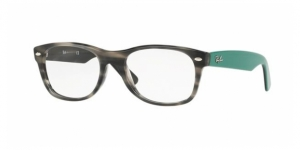 New Wayfarer RX5184 5800 GREY GREEN HAVANA