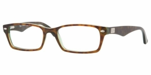 RAY-BAN RX5206 2445 HAVANA-GREEN DEMO LENS