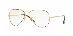 Aviator RX6489 2945 GOLD TOP ON HAVANA