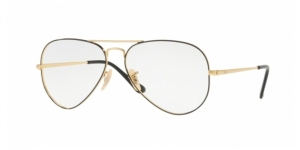 Aviator RX6489 2946 GOLD ON TOP BLACK
