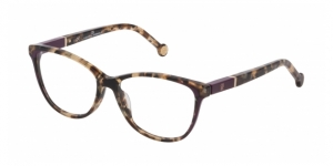 CAROLINA HERRERA VHE813 096X TRANSPARENT BROWN HAVANA