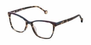 CAROLINA HERRERA VHE820L 096X TRANSPARENT BROWN HAVANA