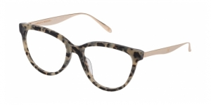 CAROLINA HERRERA NEW YORK VHN614M 0D7B SHINY WHITE/BLACK TORTOISE